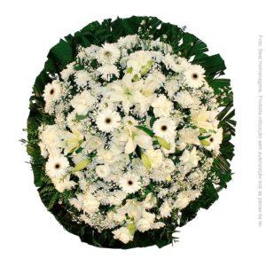 Coroa de Flores Luxo Branca