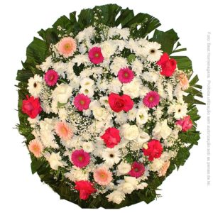 Coroa de Flores Tradicional Rosa